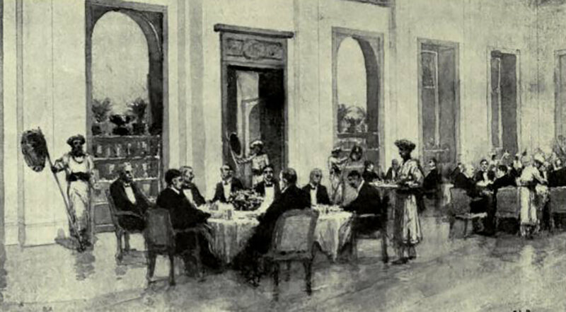 The dining room inside the Byculla Club.