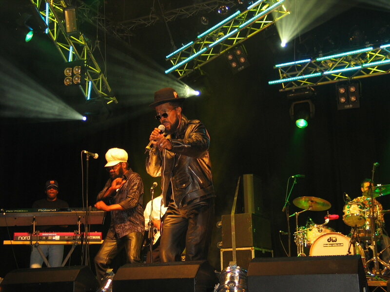 Prince Buster performing with Delroy Williams and The Junction Band at the 2008 Cardiff Festival in Cardiff, United Kingdom.