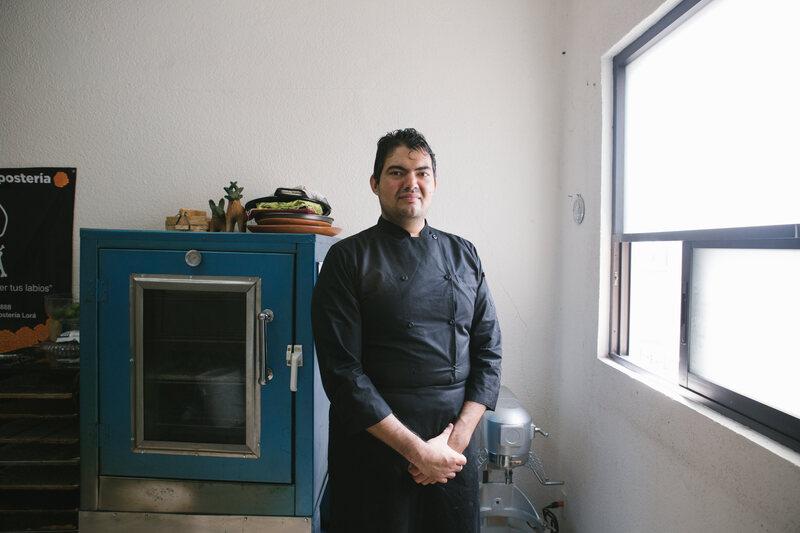 Chef Oliverio in his kitchen
