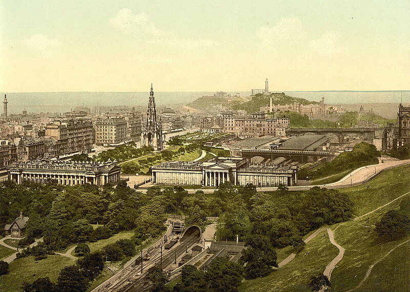 The view from Edinburgh Castle, 1890s.