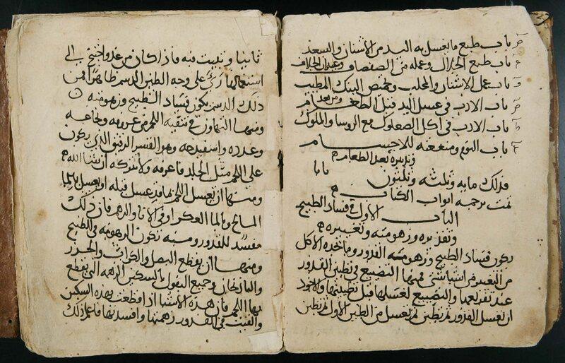 The folio of al-Warrāq's manuscript.