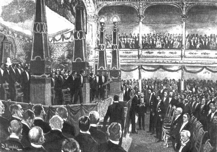 The very first Nobel banquet in 1901.