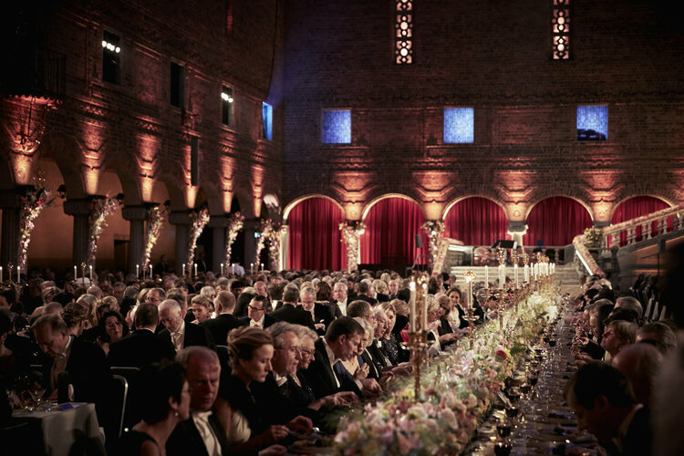 The Nobel banquet is always a sparkling affair.