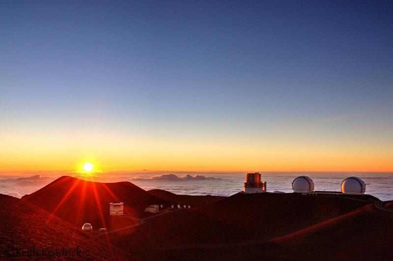 Sunset on Mauna Kea.