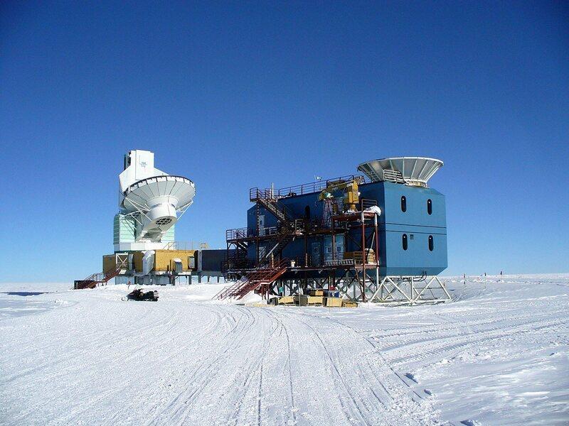 Telescopes at the South Pole.