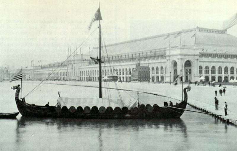 Chicago World's Fair Columbian Exposition Viking ship