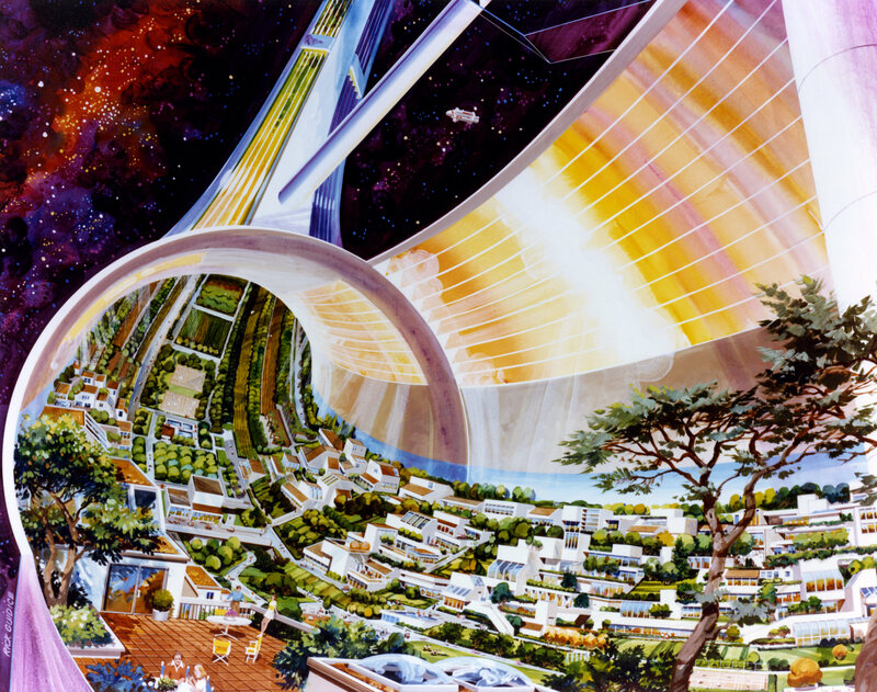 Looking Back on NASA's Vivid 1970s Visions of Space Living