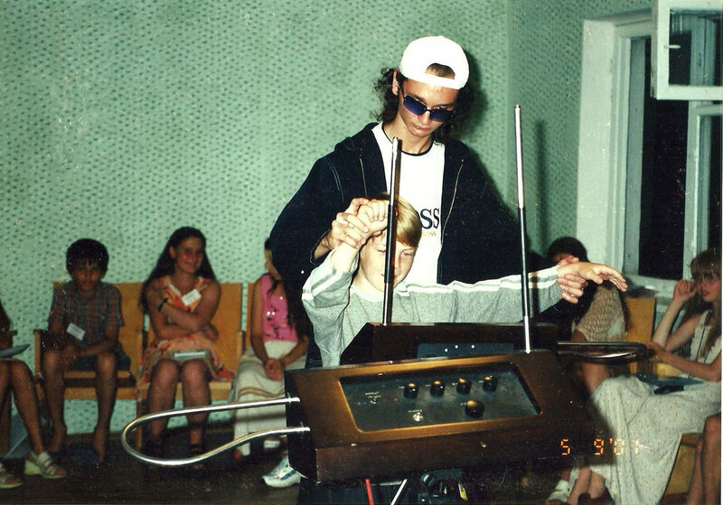 Theremin performer Anton Kershenko and his young pupil Vania had their music transmitted to space.