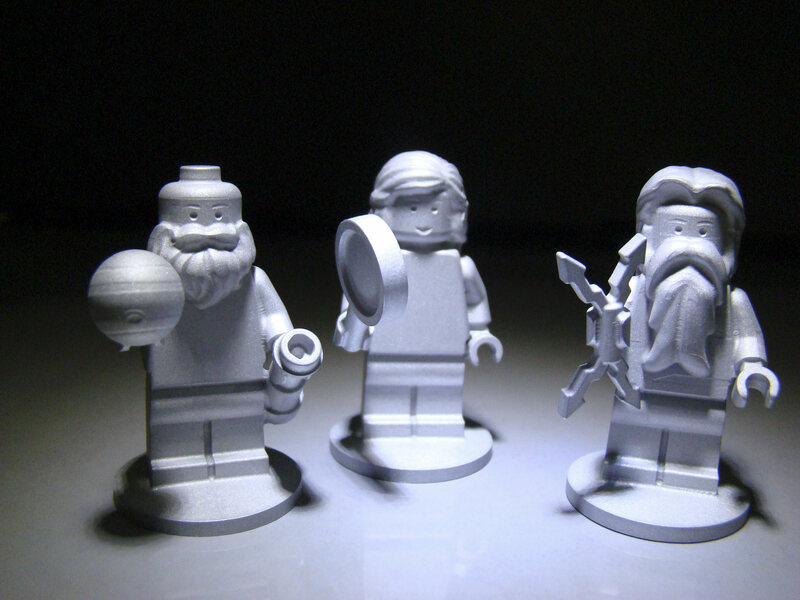 The models of three Lego figurines sent with the Juno spacecraft are Galileo Galilei, and the Roman gods Juno and Jupiter.