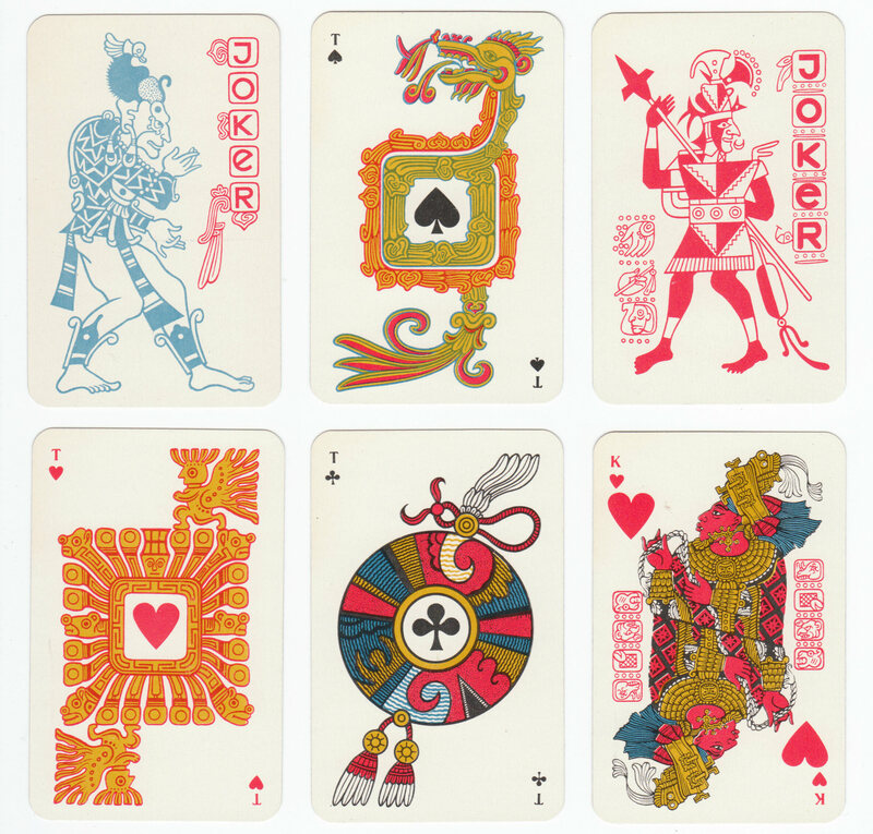 Various cards from the rare deck. Lady Xoc is featured far right, on the bottom.