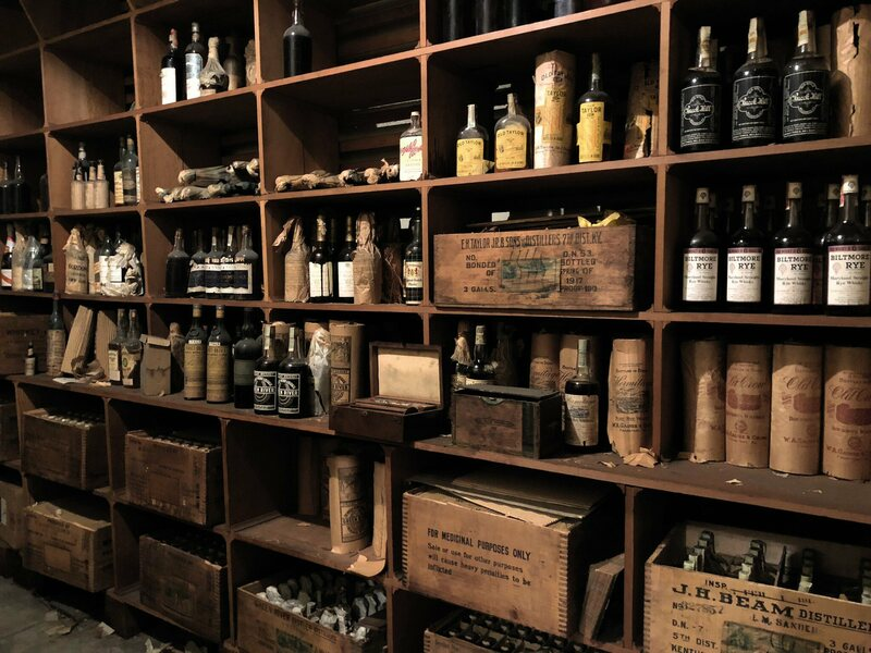 Bottles Upon Of Whiskey Neatly Organized And Hidden For A Century