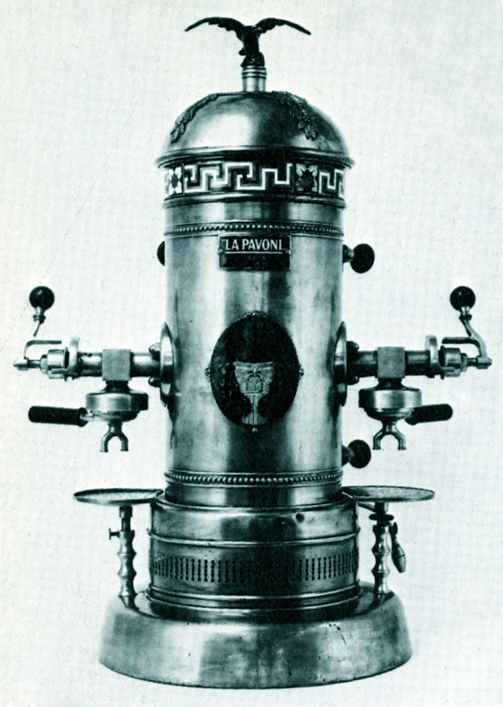 A La Pavoni espresso machine from around 1910.