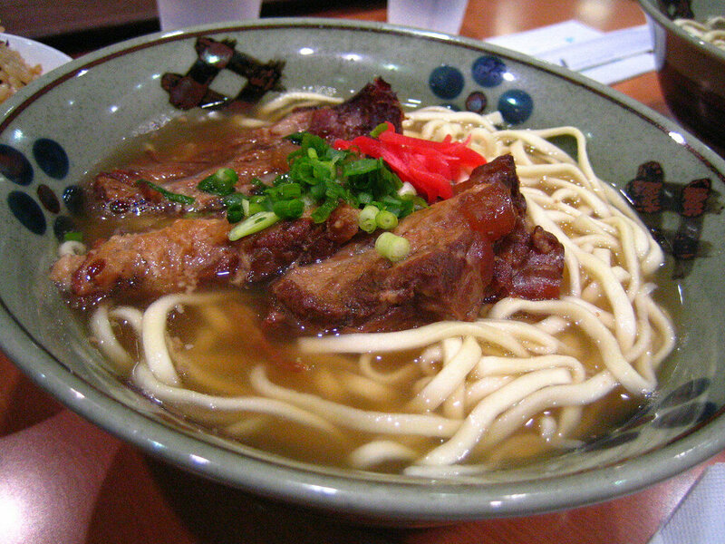 <em>Soki soba</em> is made with pig's feet and eaten on January 1 in Okinawa.