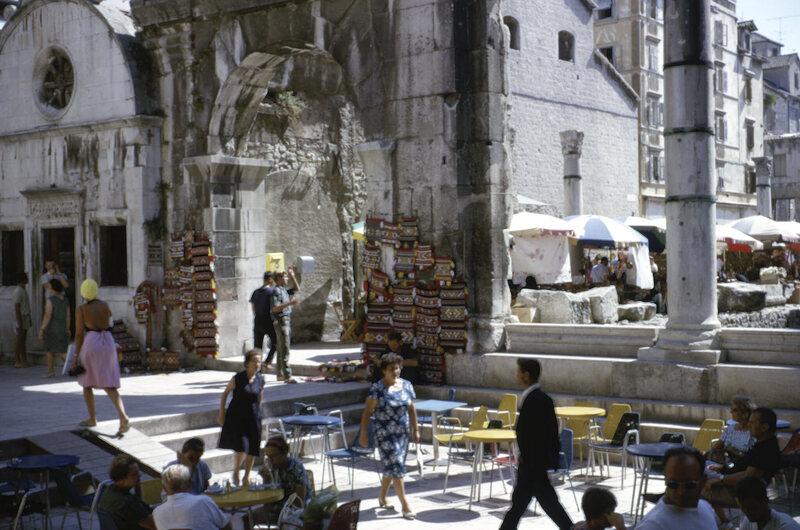 Diocletian's Palace, Split, Croatia (Yugoslavia), 1966.