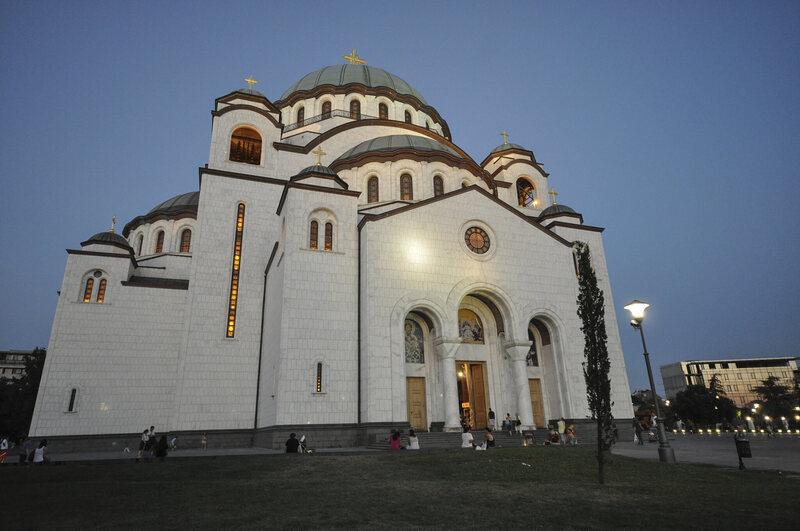 The Church of Saint Sava, an Orthodox church in Belgrade, Serbia.