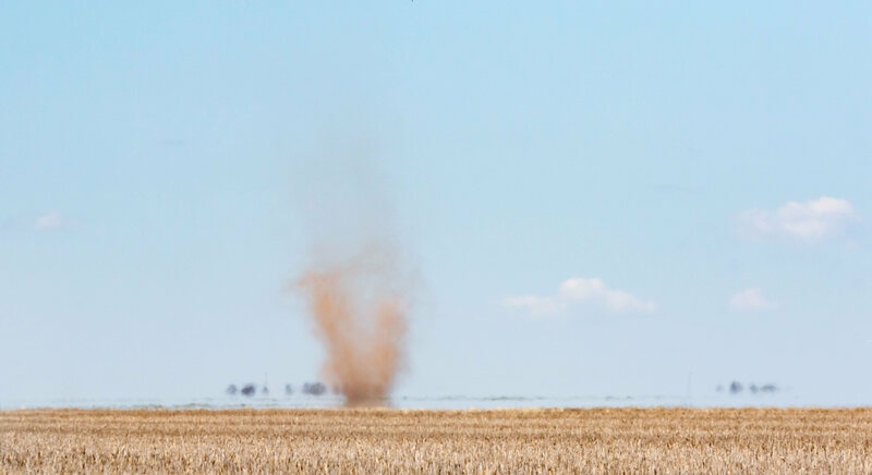 An Australian dust devil, which likely has nothing on one of its Martian counterparts.
