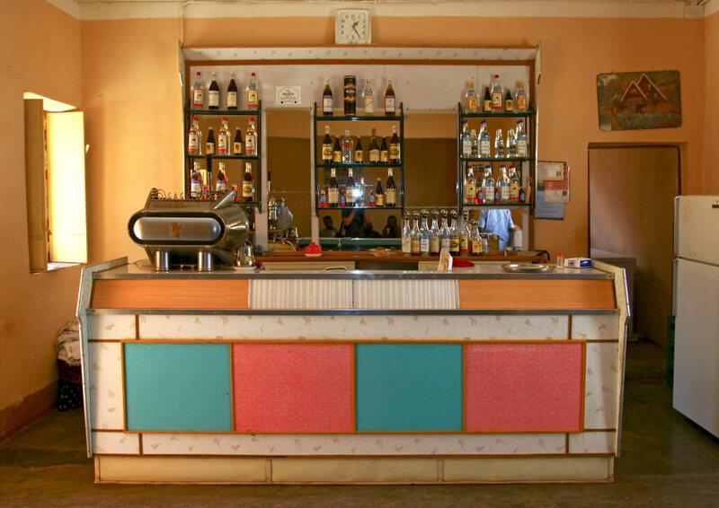 An Italian-style bar in Asmara.