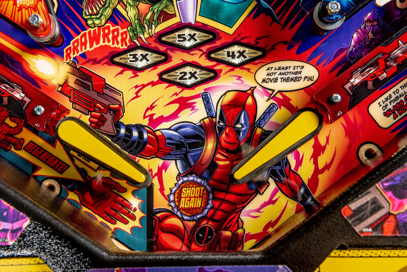 Modern pinball machines are what you might call visually dense.