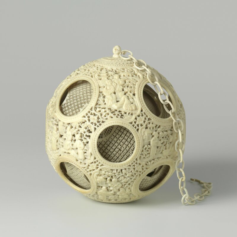 A 19th-century puzzle ball.