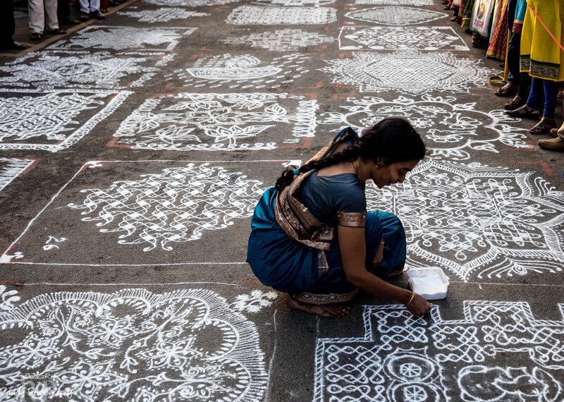 How an Ancient Indian Art Utilizes Mathematics, Mythology, and Rice