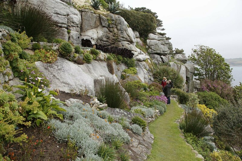 Unlikely succulents stud the castle's terraced gardens.