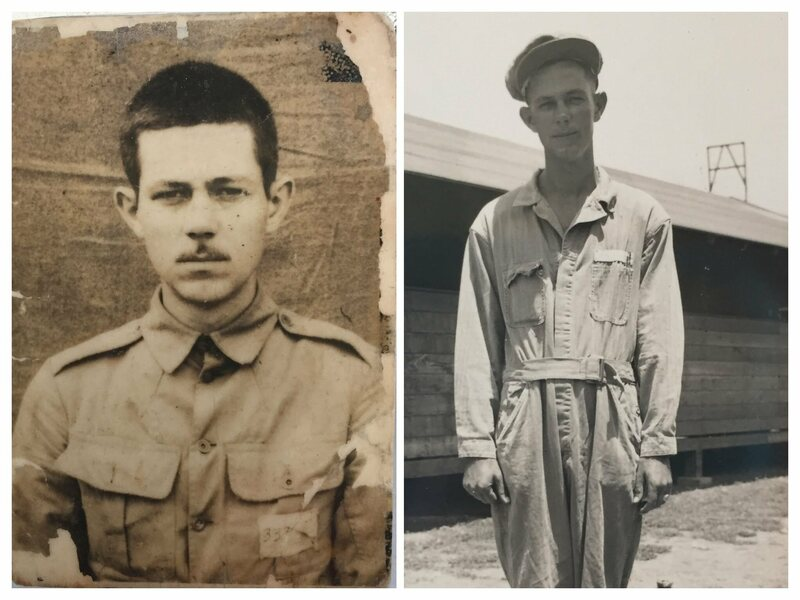 Sergeant Warren Stewart, an American POW, who kept a diary of recipes from memory while detained in a Japanese prison camp.