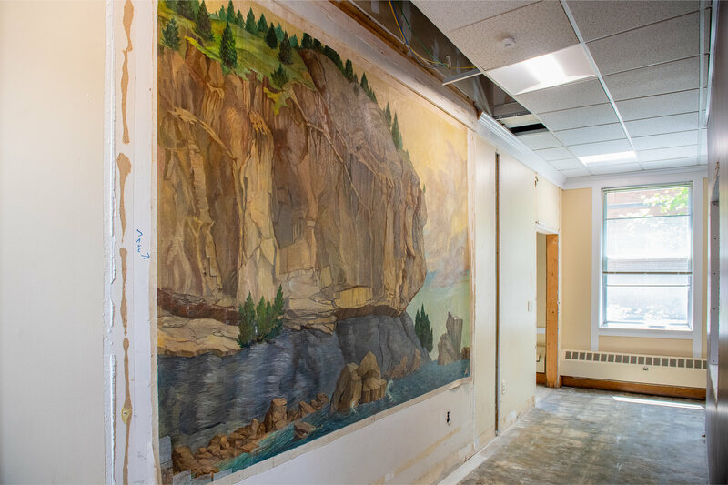 An Old Painting of Vermont's Ancient Rocks Was Hidden Behind a Wall for Decades
