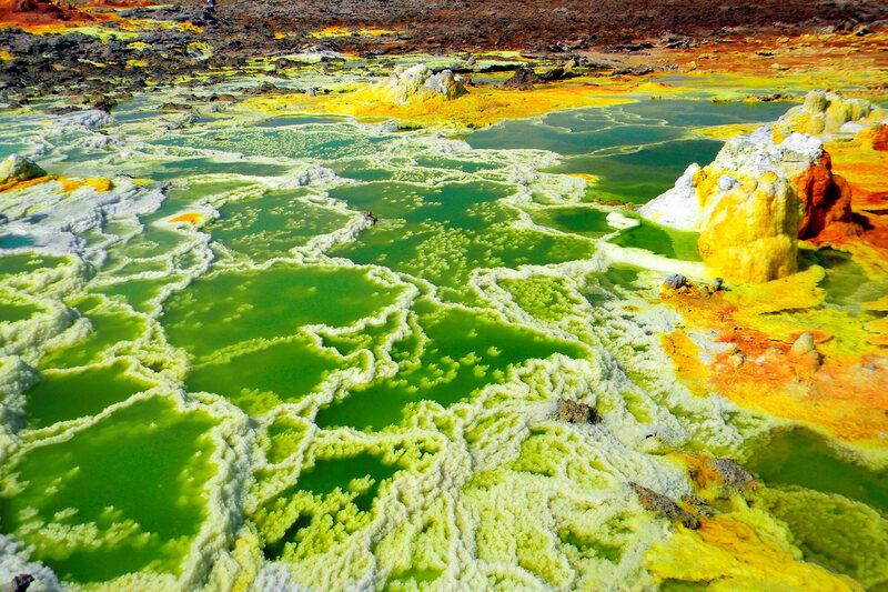 A volcanic lake at Dallol.