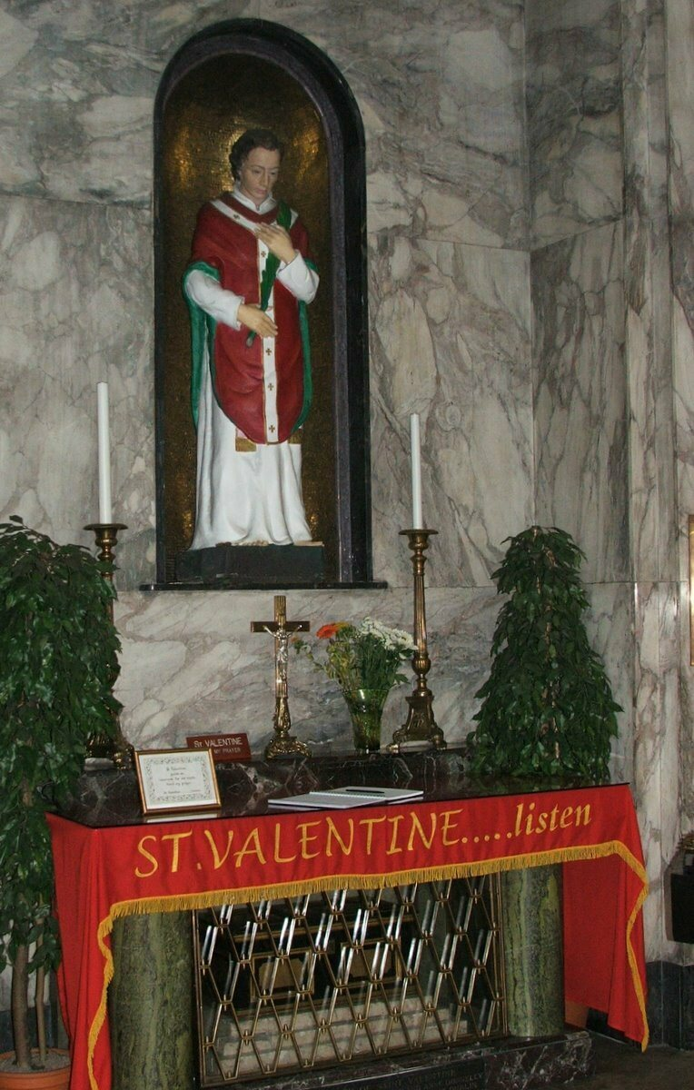 Shrine to Saint Valentine in Dublin
