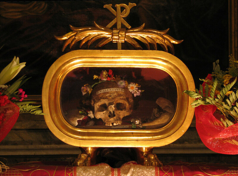 Skull of Saint Valentine in Rome