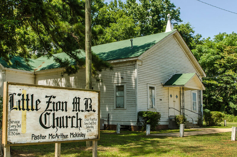 Little Zion Church in Greenwood, Mississippi.