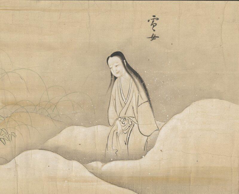 The Yuki-onna from <em>Bakemono no e</em>, an Edo-era Japanese handscroll depicting Japanese yōkai.