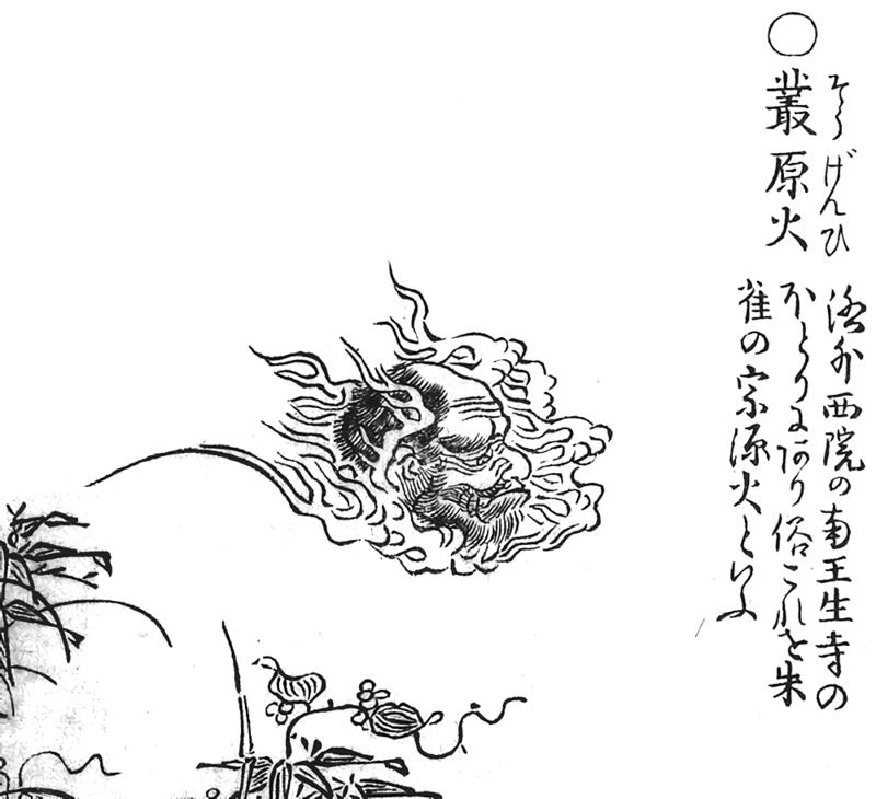 Sōgen-bi, from Toriyama Sekien's <em>The Illustrated Night Parade of One Hundred Demons</em>.