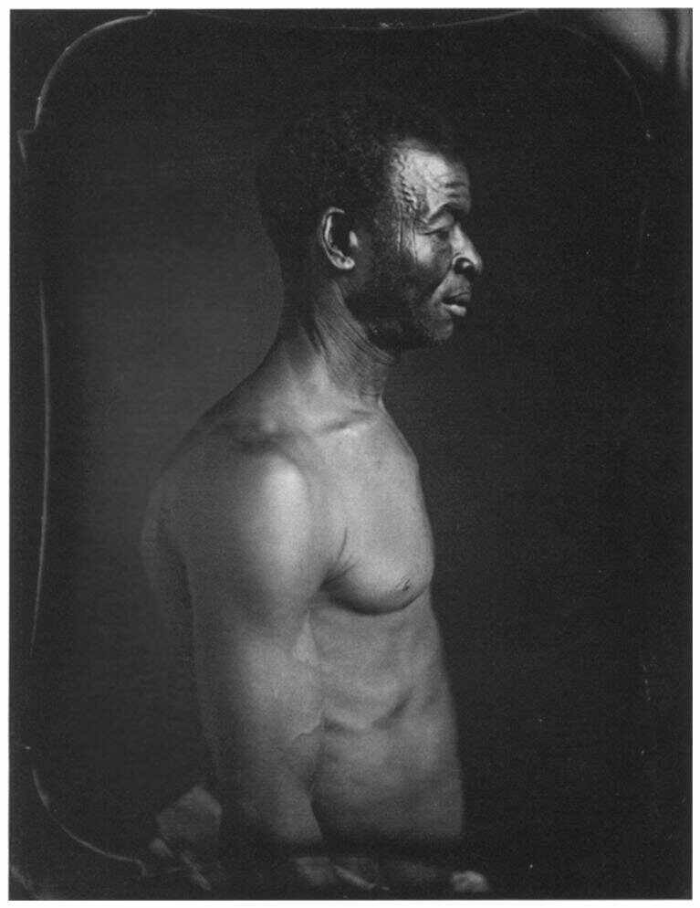 Agassiz commissioned this daguerreotype of an enslaved man named Jack, who was born on the Coast of Guinea and lived on a plantation in Columbia, South Carolina.