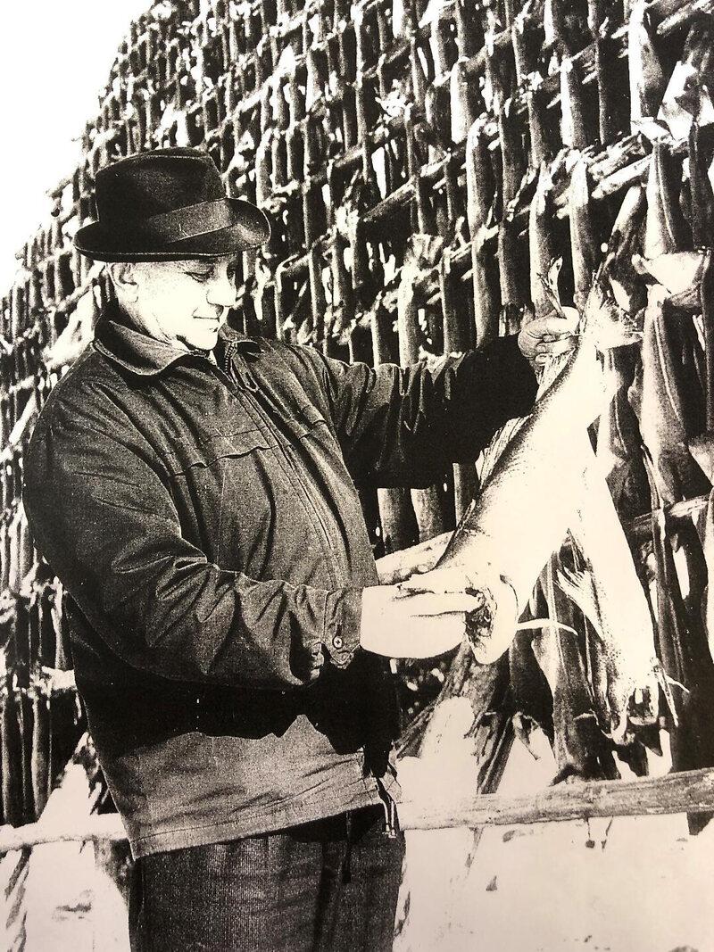 Olaf Pedersen's grandfather founded the Røst stockfish company Glea Sjømat in 1936.