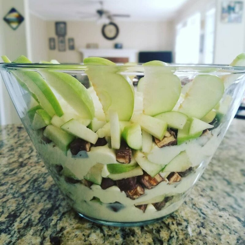 The green apples make it healthy.