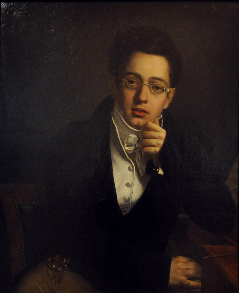 "Josef Abel, ""Franz Schubert"" (1814), oil on canvas"
