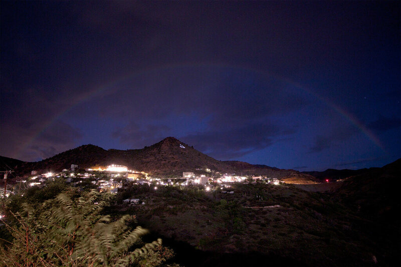 Moonbow over Jerome, Arizona