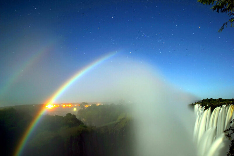 Double moonbow over Victoria Falls!