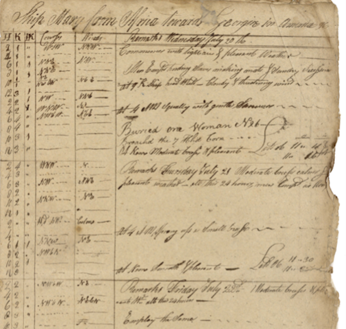 A Rare Day-by-Day Document of Life Aboard a Slave Ship ...