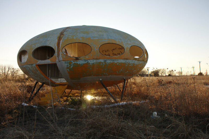 Elegant Abandoned Futuro House In Royse City, Texas (photograph By Steve  Rainwater/Flickr)