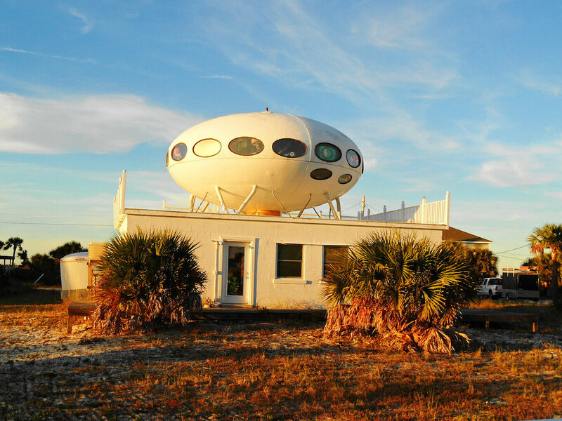 The Futuro House In Pensacola Beach, Florida, Which Survived Hurricane Ivan  (photograph By Ken Ratcliff/Flickr)