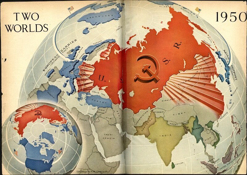 Map Of Asia 1950.7 Maps That Only Could Have Been Made In The 20th Century Atlas