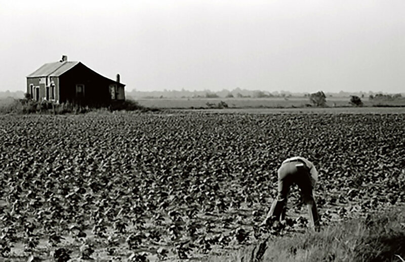 The Freedom Farm Cooperative in 1972, a difficult period due to droughts and floods.