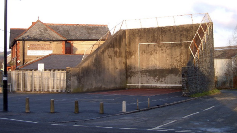 Nelson's handball court is still standing and used occasionally.