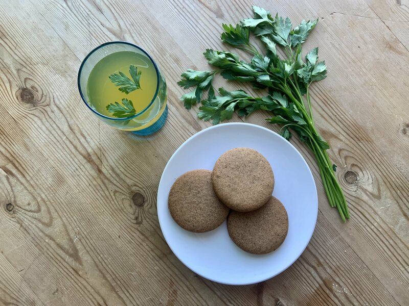 If you really need joy, pair your cookies with Hildegard's honey-parsley wine.