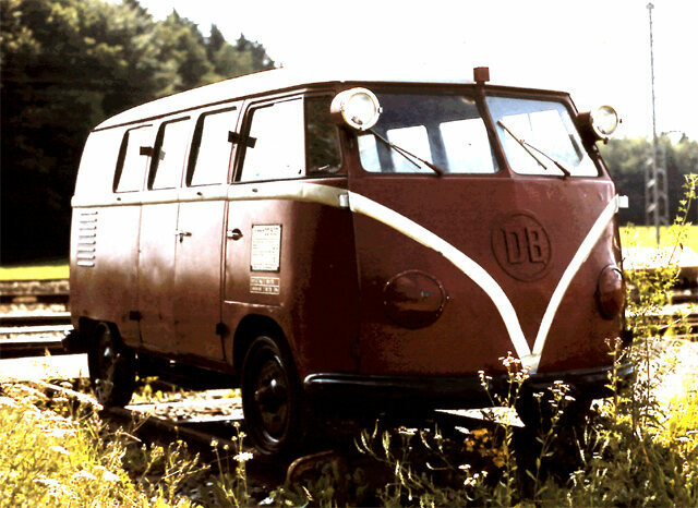One of the 30 modified VW camper vans ordered by the German National Railway in 1955