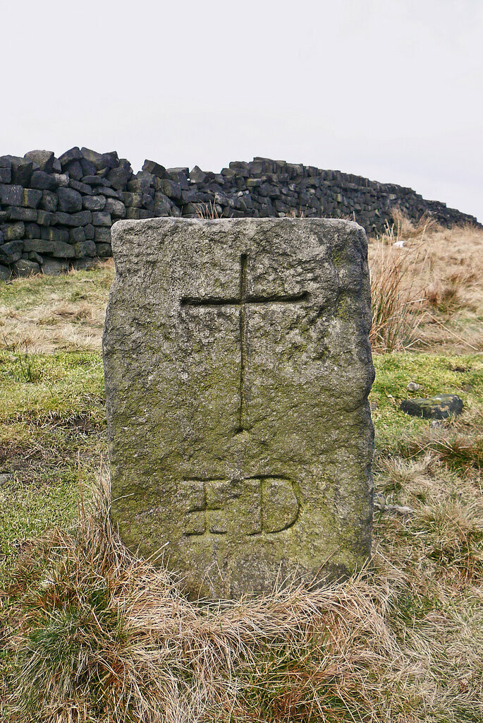 Cross on the corpse road near Todmorden