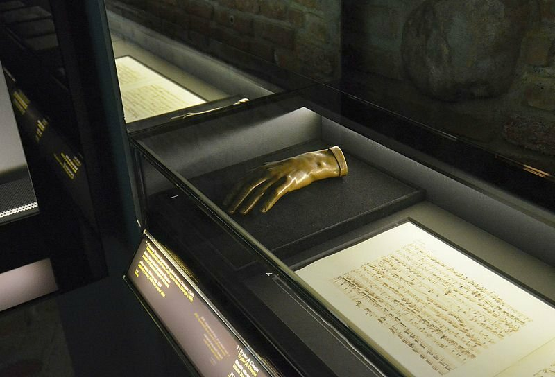 Chopin's hand in the Frederick Chopin Museum in Warsaw