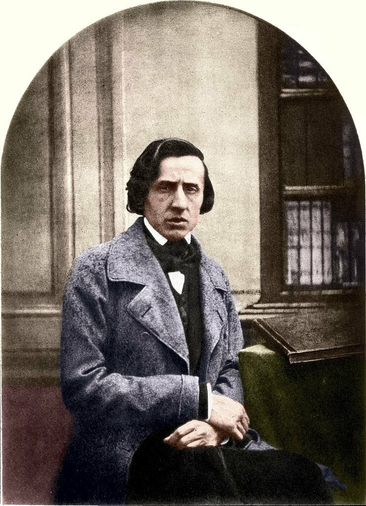 Chopin in 1849 before his death